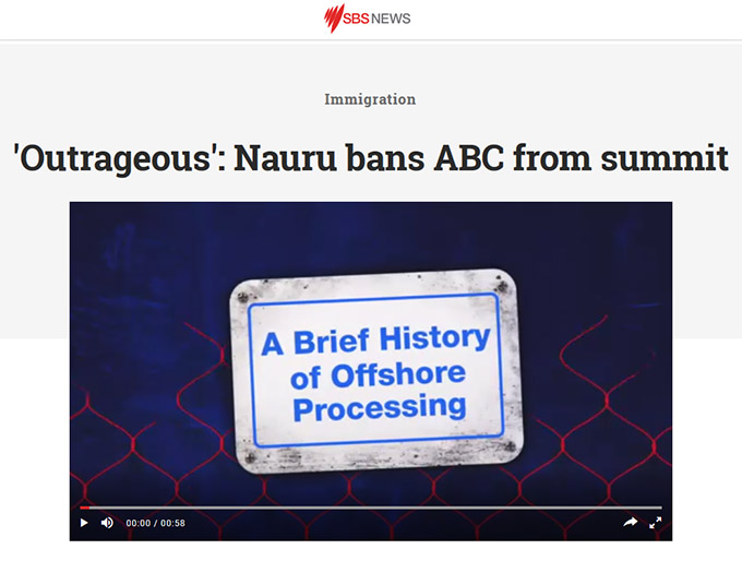 Nauru Governments Move Against Press Freedom Disgraceful
