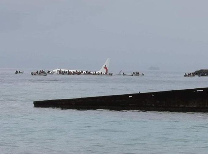 Plane overshoots runway in Micronesia and lands in ocean