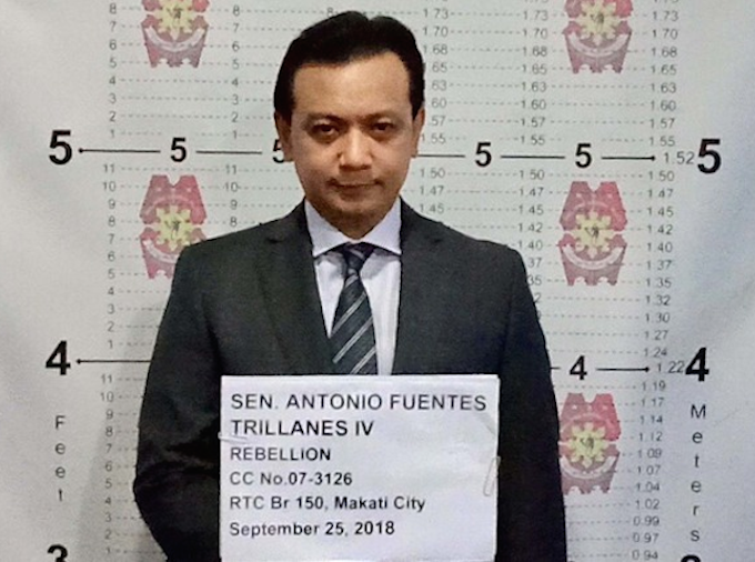 Philippines senator Antonio Trillanes arrested after weeks holed up in Senate