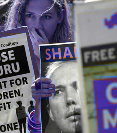 An Australian protest over deteriorating conditions for children at the Nauru detention centre. Image: Al Jazeera