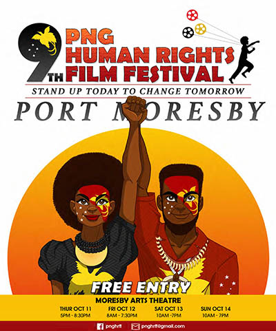 The PNG Human Rights Film Festival. Image: PMC