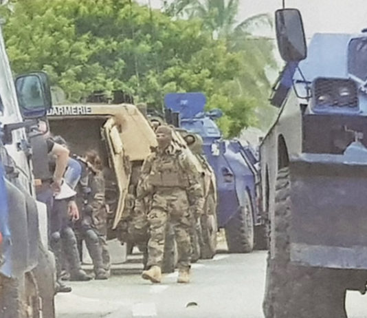 French security forces in Noumea