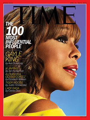 """The latest """"most influential"""" cover of Time magazine. Image: Time magazine"""