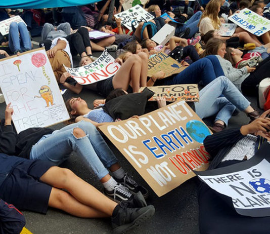Auckland student climate protest