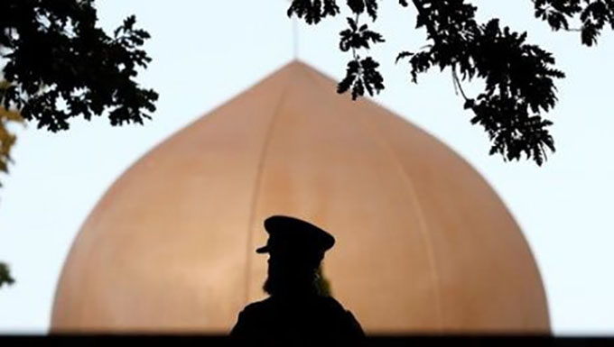Policeman at mosque