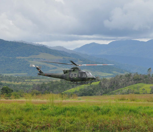 Indonesian helicopter