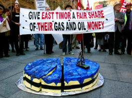 Timor-Leste oil protest