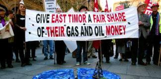 Timor-Leste oil protest
