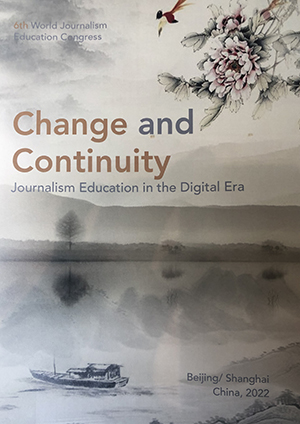 """The """"Change and Continuity"""" prospectus for the China-hosted WJEC conference in 2022. Image: Jeremaiah Opiniano/UST"""