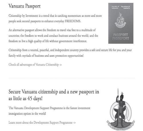 Vanuatu fast citizenship