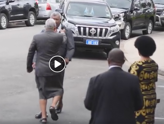 Fiji parliament video frame