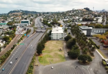 Auckland drone view