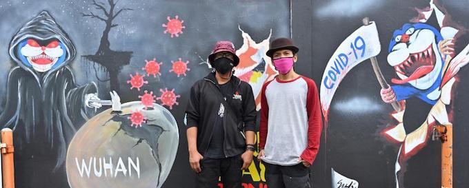 Indonesian virus murals