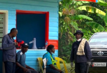 Madang police road block
