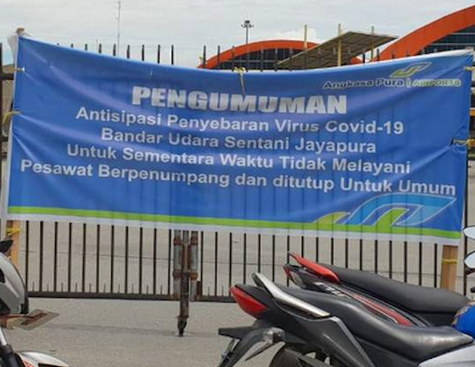 Jayapura airport closure