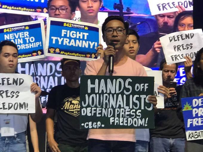 Philippines media protest