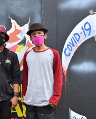 Indonesian mural artists