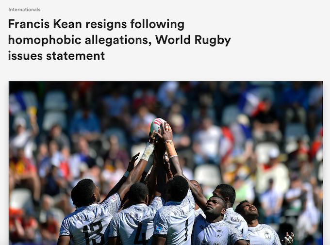 Kean resigns