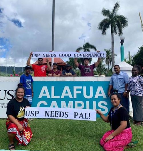 Alafua students protest
