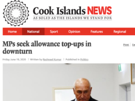 Cook Islands News article 19-6-20