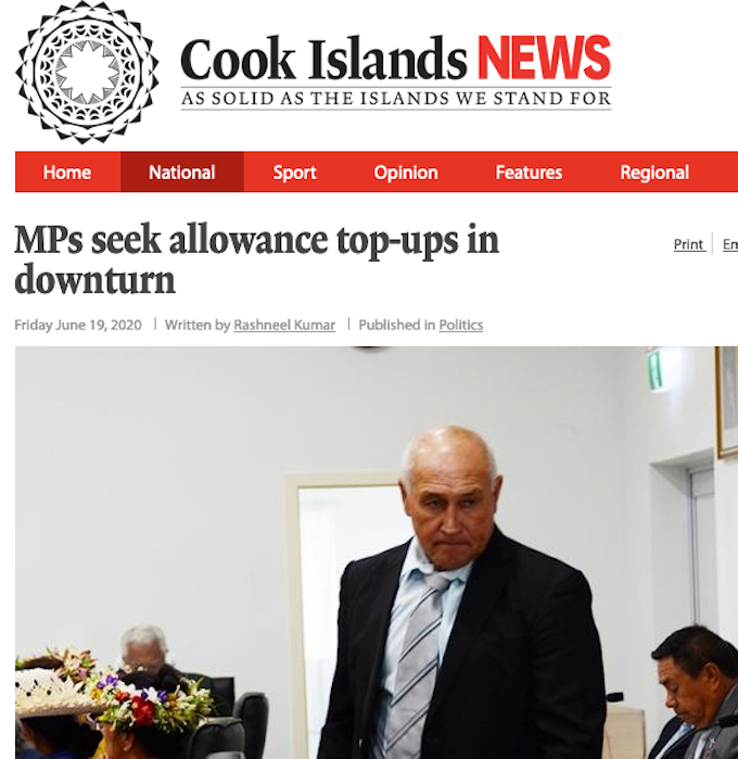 Cook Islands MPs seek to ban political editor for story exposing  travel perks