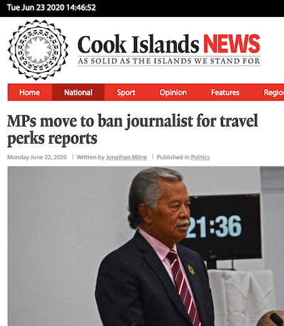 Cook Islands News ban bid