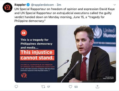 UN Special Rapporteur David Kaye