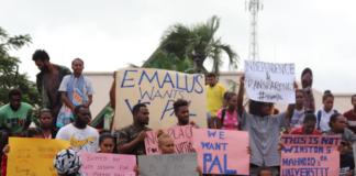 Emalus USP protest