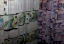 Seized PNG money
