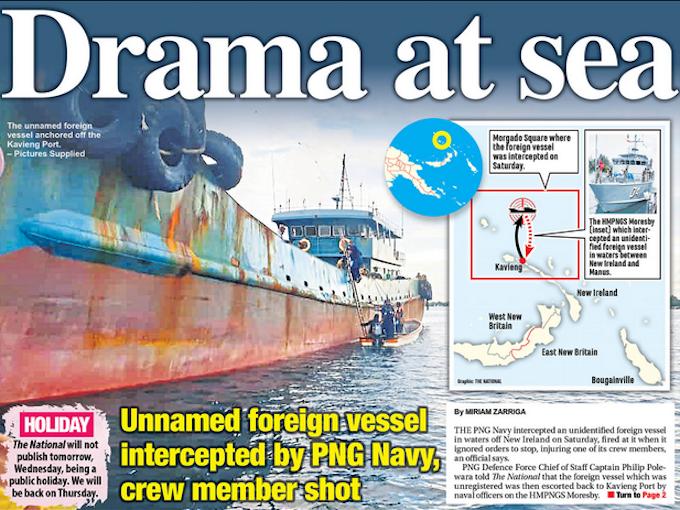 Drama at Sea The National
