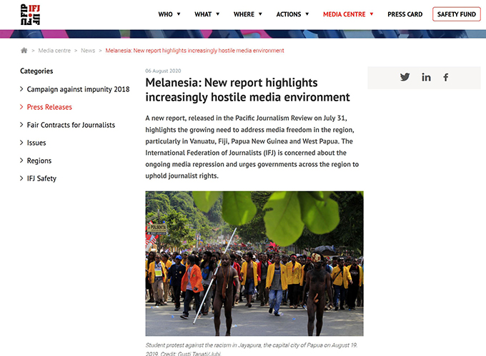 PMC protests to Facebook over censored West Papua news item