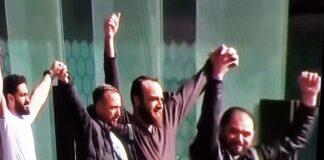 Jubilation over terrorist sentence