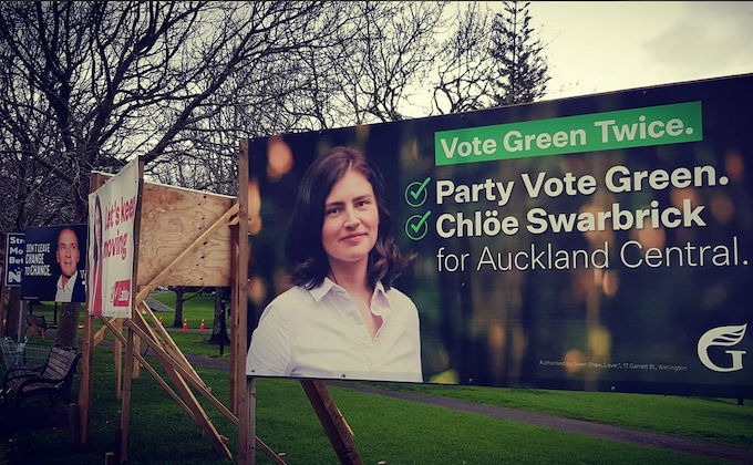 NZ election hoardings