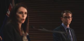 PM Jacindar Ardern + Dr Ashley Bloomfield