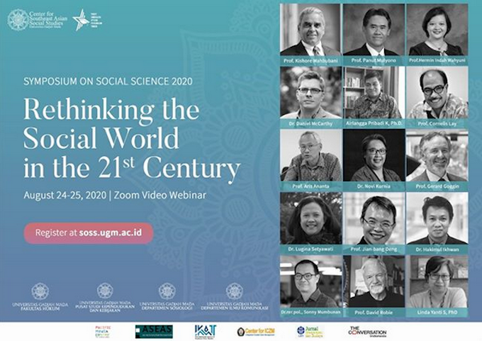 Symposium SOSS 20120 in Yogyakarta - some of the speakers. Image: PMC screenshot