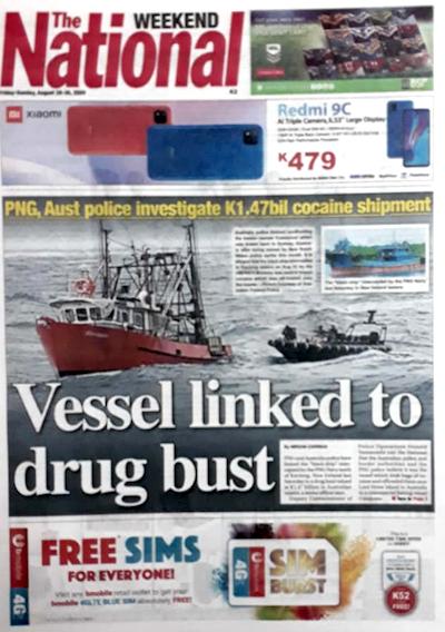PNG Vessel linked to drug haul