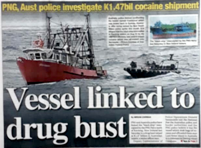 PNG arrested 'black ship' believed to be linked to K1.47bn cocaine haul