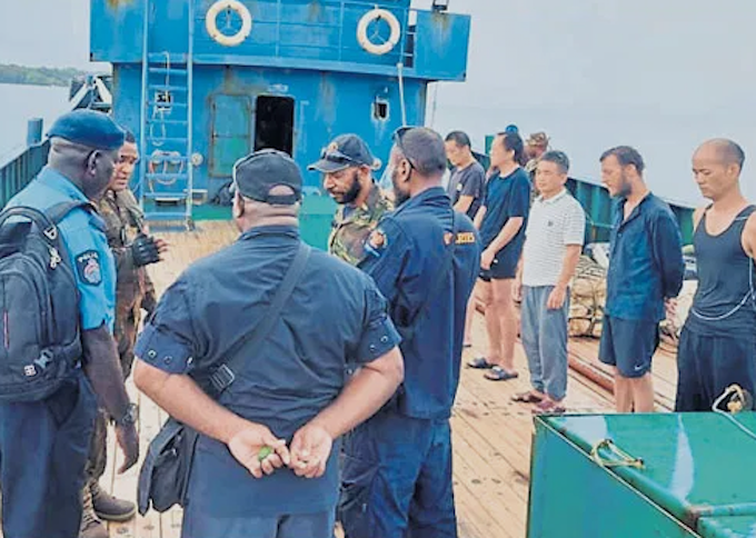 Arrested ship crew deny 'bunkering', other marine charges in PNG court