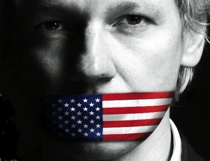 Julian Assange USflag