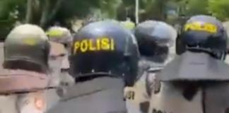 Police at Cenderawasih
