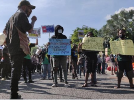 Papuan student protest