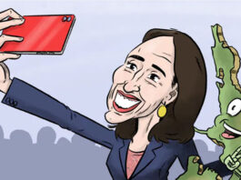 Jacinda Ardern cartoon