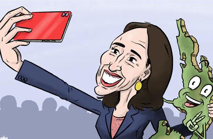 Jacinda Ardern cartoon