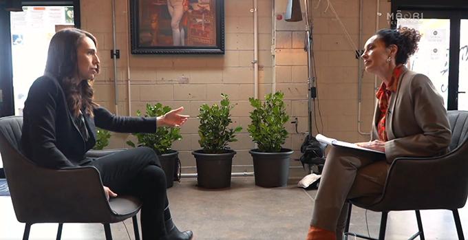Moana Maniapoto talks to Jacinda Ardern