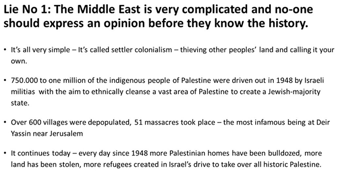 Lie No 1 - Middle East complicated