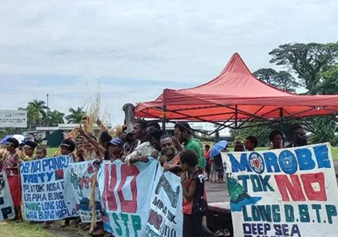 PNG landowners protest over deep sea tailings waste plan for K18b project