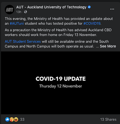 AUT FB alert