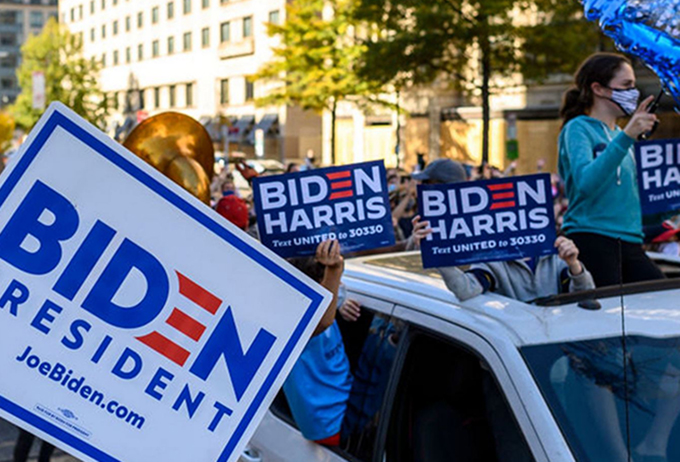 Biden supporter celebrations
