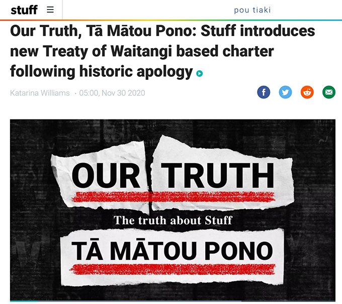 Our Truth, Tā Mātou Pono: Stuff introduces new Treaty of Waitangi based charter following historic apology