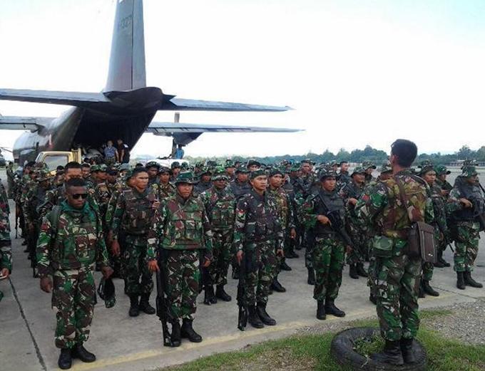 Battalion 751 on parade